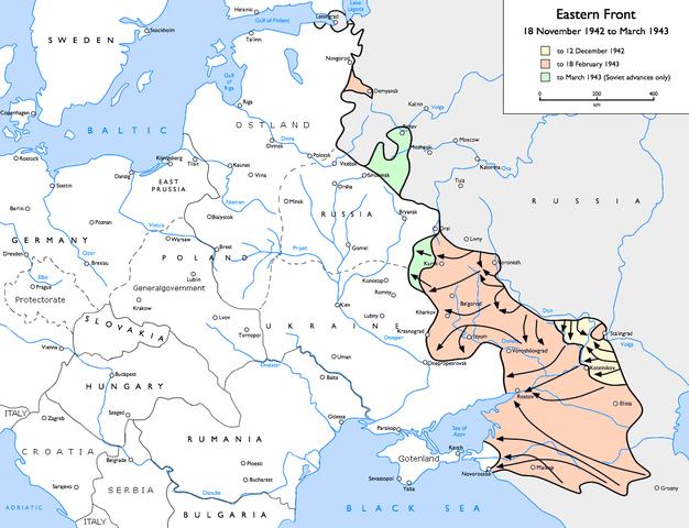 1942-1943. Восточный фронт