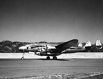 Lockheed L-649 Constellation - An Eastern Air Lines L-649 Constellation, with the optional belly-mounted cargo hold