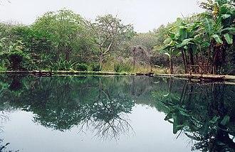 Geography of Ecuador - Sulfur laguna on the site of AguaBlanca, Machalilla National Park, Ecuador