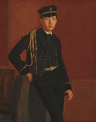 Luncheon in the Studio - Edgar Degas, Achille De Gas in the Uniform of a Cadet (1855)