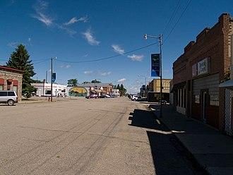 Edgeley, North Dakota - Business district in Edgeley