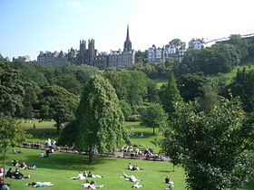 Edinburgh Park and old town.JPG