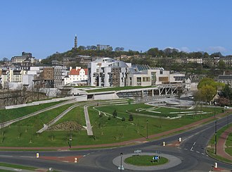 Politics of the United Kingdom - The Scottish Parliament Building in Holyrood, Edinburgh, seat of the Scottish Parliament.