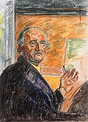 Edvard Munch - Self-Portrait with Pastel Stick - 1943.jpg