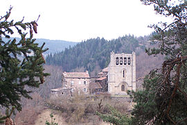 The church in Saint-Arcons-de-Barges