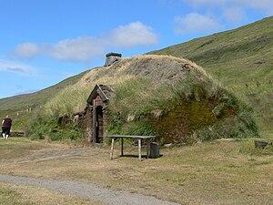 Eiríksstaðir - Reconstructed longhouse at Eiríksstaðir