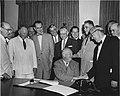 Eisenhower and Lyndon B. Johnson June 21, 1955 - LBJ Museum 55-6-2.jpg