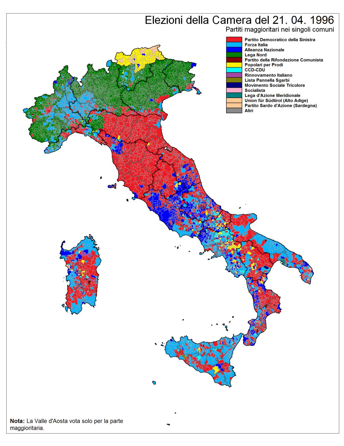 elezioni politiche italiane del 1996 wikipedia