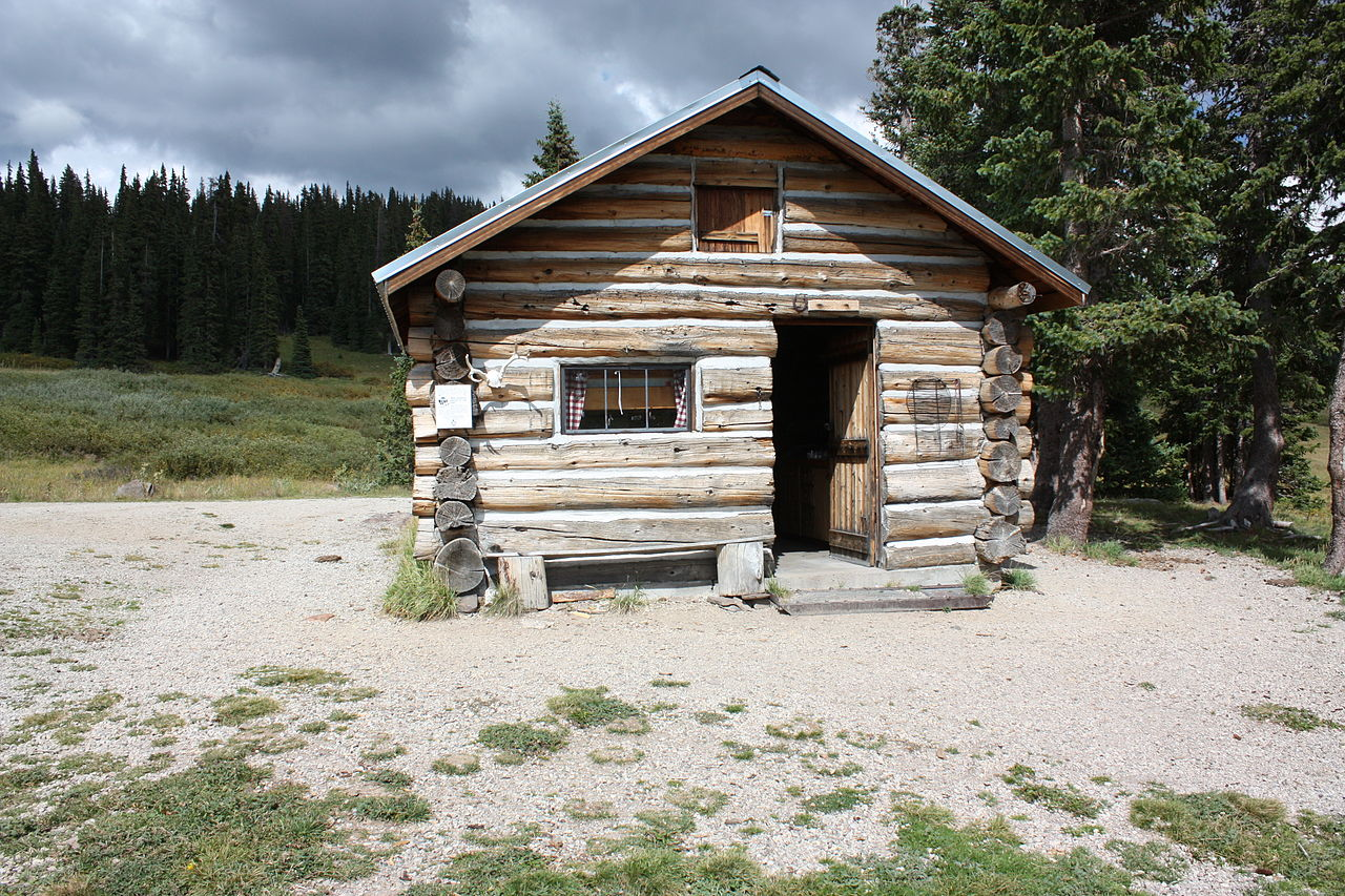 File elwood cabin rio grande forest colorado september for 5 structural types of log homes