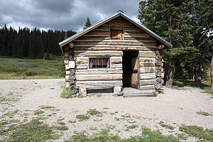 Log cabin - A log cabin in the southern Rocky Mountains of Colorado.