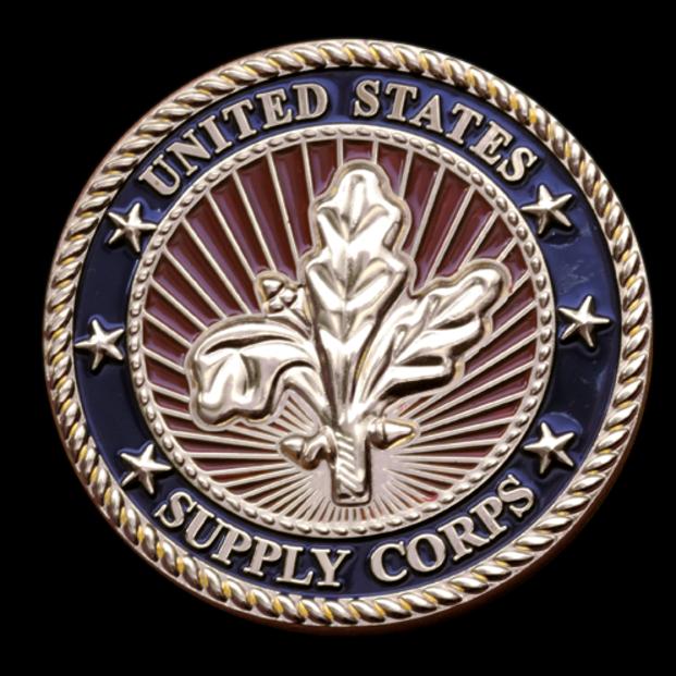 Embleholics Supply Corps Custom Challenge Coin Back Side