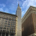 Empire State Building photographed from sidewalk in front of Macy's department store.jpg