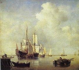 A Warship Among Fishing Boats