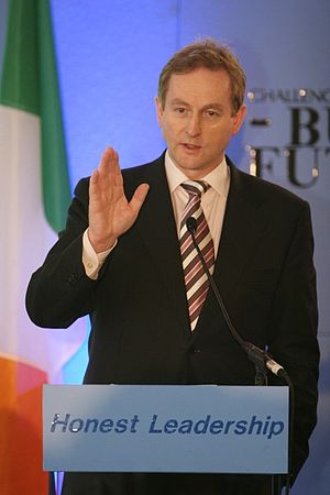 Enda Kenny speaking at the YFG national conference