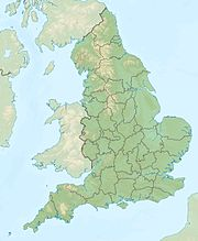 Location map UK England liggur í UK England