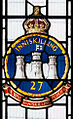 Enniskillen Cathedral of St. Macartin North Aisle Saint George Window Detail Insignia The Royal Inniskilling Fusiliers 2012 09 17.jpg