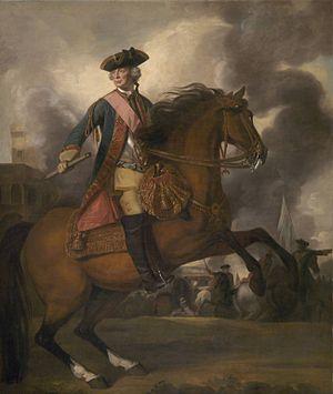 John Ligonier, 1st Earl Ligonier - Equestrian portrait of Lord Ligonier by Sir Joshua Reynolds, 1760.