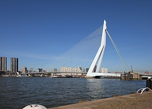 Erasmusbrug across the Nieuwe Maas river