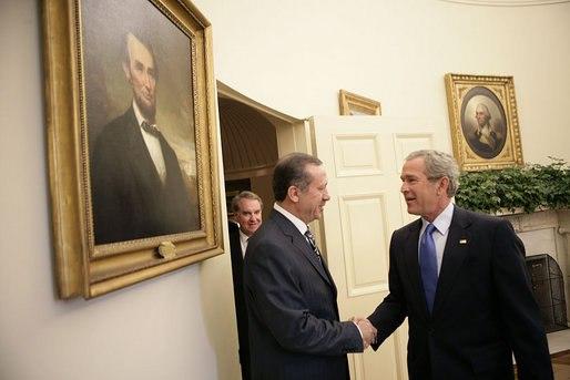 Erdogan et Bush