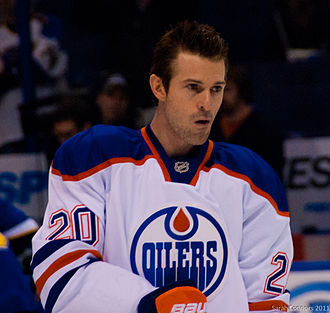 Éric Bélanger - January 2012 with Edmonton Oilers