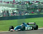 Eric Bernard - Ligier JS39B at the 1994 British Grand Prix (31729365813).jpg