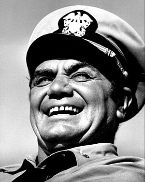 Ernest Borgnine - Borgnine as Lieutenant Commander McHale in McHale's Navy in 1963