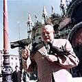 Ernest Hemingway with pigeons, Venice, 1954.jpg