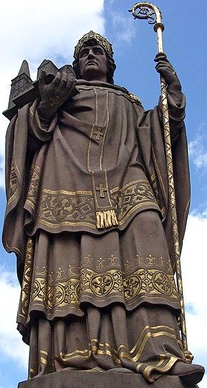 Ansgar - Saint Ansgar statue in Hamburg