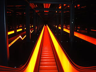 Escalator at zeche zollverein