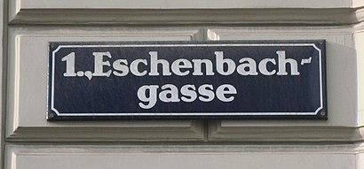 So kommt man zu der Eschenbachgasse mit den Öffentlichen - Mehr zum Ort Hier