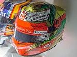 Esteban Gutierrez 2016 helmet 2017 Museo Fernando Alonso.jpg