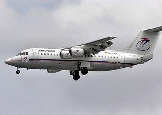 Eurowings - A former Eurowings BAe 146-200