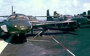 Ex-VNAF A-37s on deck of USS Midway