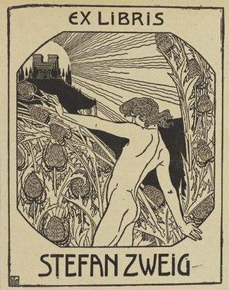 Ephraim Moses Lilien - Image: Ex libris Stefan Zweig