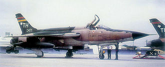 301st Fighter Wing - Image: F 105d 60 471 carswell