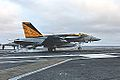 F-18E of VFA-151 landing on USS John C. Stennis (CVN-74) in December 2014.JPG
