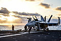 F-18E of VFA-86 on deck of USS Ronald Reagan (CVN-76) in April 2014.JPG