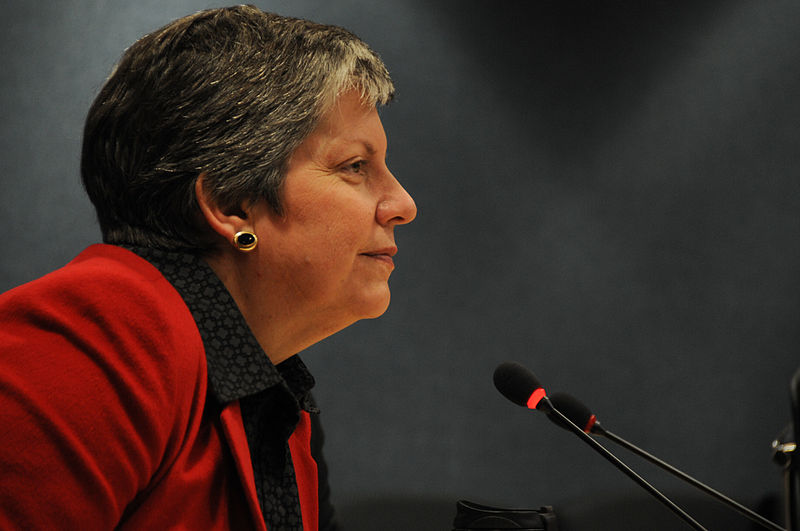 janet napolitano, napolitano, homeland security, uc, university of california