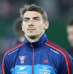 FIFA WC-qualification 2014 - Austria vs Faroe Islands 2013-03-22 - Fróði Benjaminsen 02.jpg