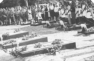 Mozambican War of Independence - A memorial service for fallen Portuguese soldiers.
