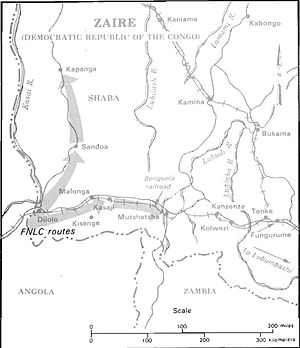 Shaba I - FNLC movements, 1977