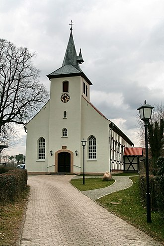 Sülze (Bergen) - Front of the Fabian and Sebastian Church