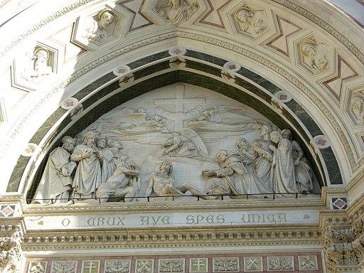 Facciata di santa croce, 02 trionfo della croce di giovanni duprè