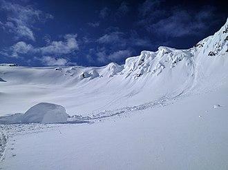 Snow cornice - Image: Fallen Cornace