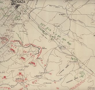 Second Battle of Gaza - Central operations on 17 April 1917
