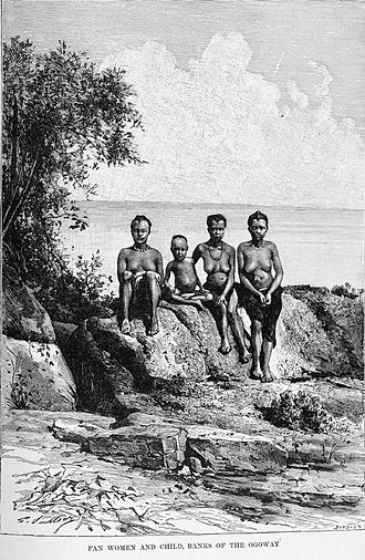 Ogooué River - Image: Fan women and child, banks of the Ogoway