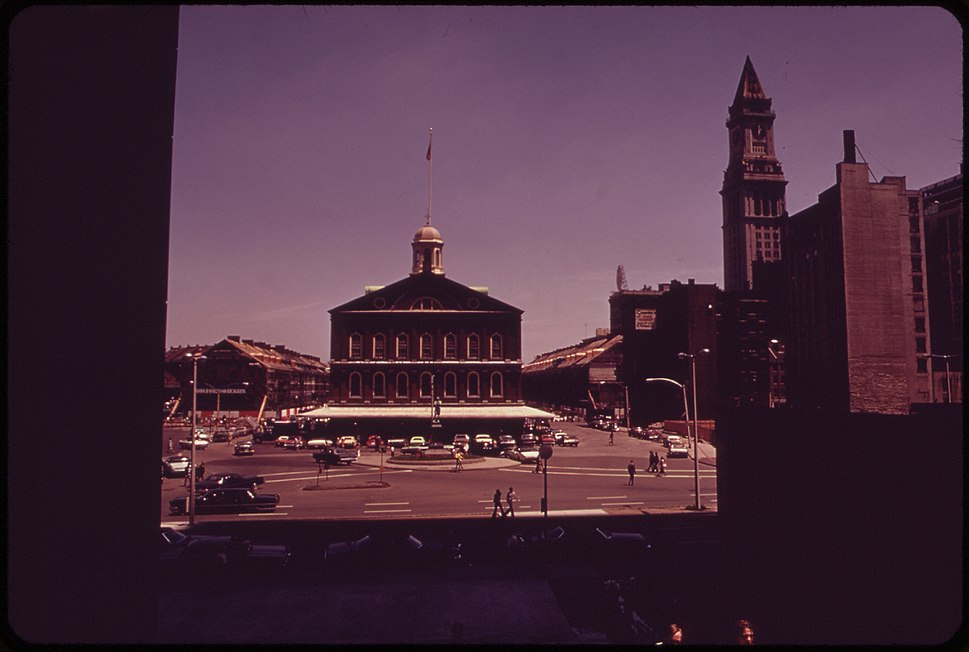 Faneuil Hall in May 1973 - Boston MA