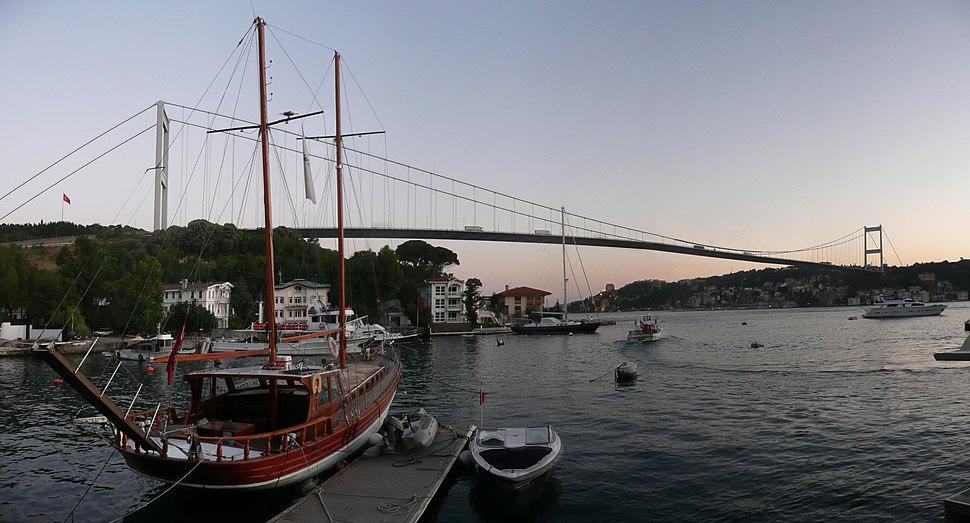 Fatih Sultan Mehmet Bridge panorama