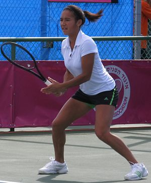 Heather Watson - Watson playing in the 2011 Fed Cup