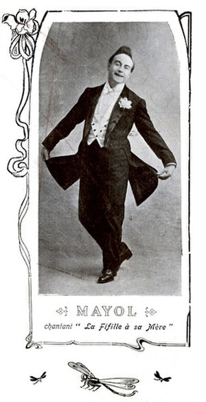 Félix Mayol - Mayol sporting his trademark quiff.